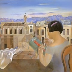 Woman At The Window In Figueres by Dali