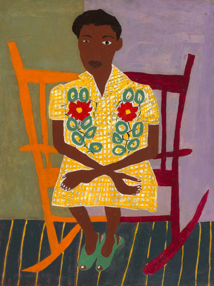 Portrait Of Woman In Rocking Chair William H Johnson