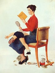 Mother Spanking Her Child by Norman Rockwell