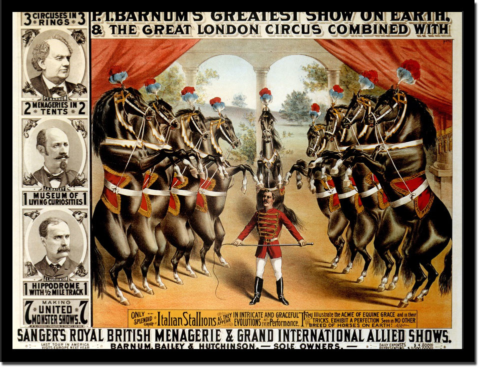 Pt Barnums Greatest Show On Earth - Vintage Poster