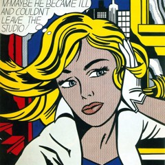M Maybe 1965 by Roy Lichtenstein