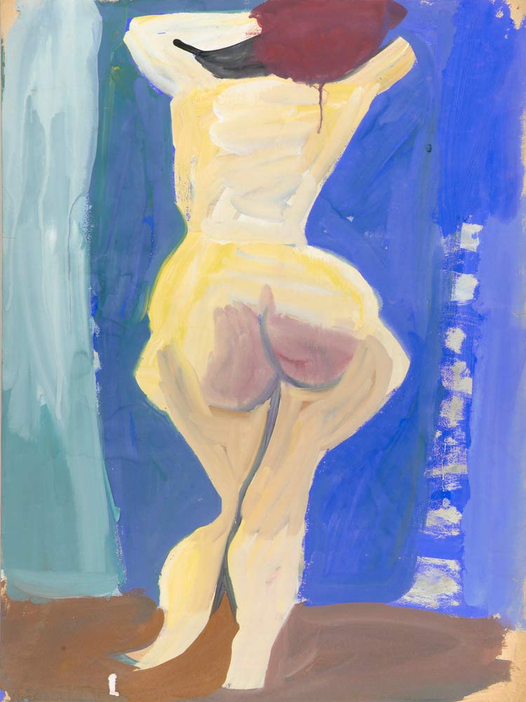 Back Of Standing Female Nude William H Johnson