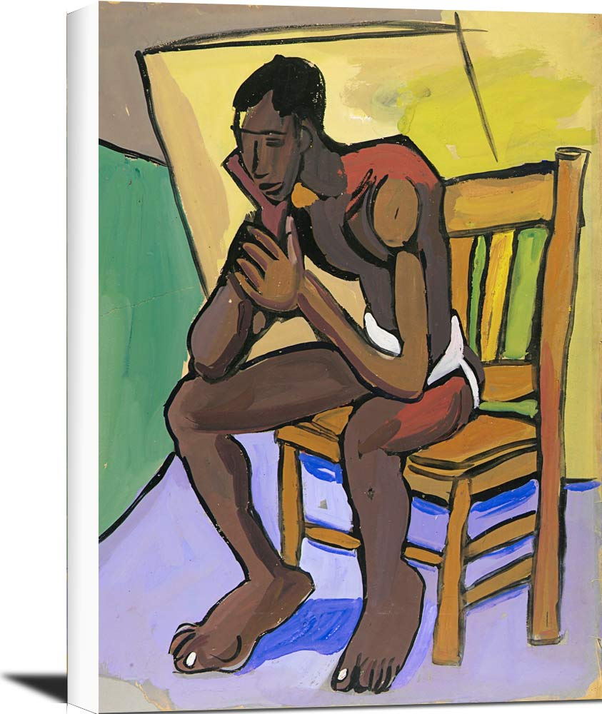 Male Model In Chair William H Johnson