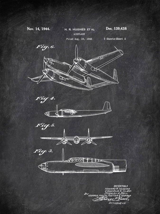 Airplane H Hughes Et Al 1944 Transportation by Patent