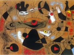 A Dew Drop Falling From A Bird's Wing Wakes Rosalie Who Has Been Asleep In The Shadow Of A Spider's Web 1939 by Joan Miro