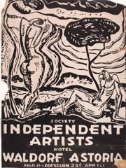 Society Of Independent Artists (Exhibition Poster) Morris Kantor