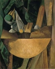 Bread And Fruit Dish On A Table Pablo Picasso