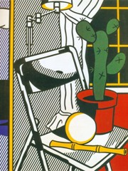Interior With Cactus by Roy Lichtenstein