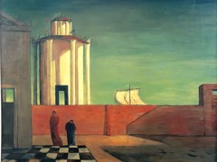 The Enigma Of The Arrival And The Afternoon by Giorgio De Chirico