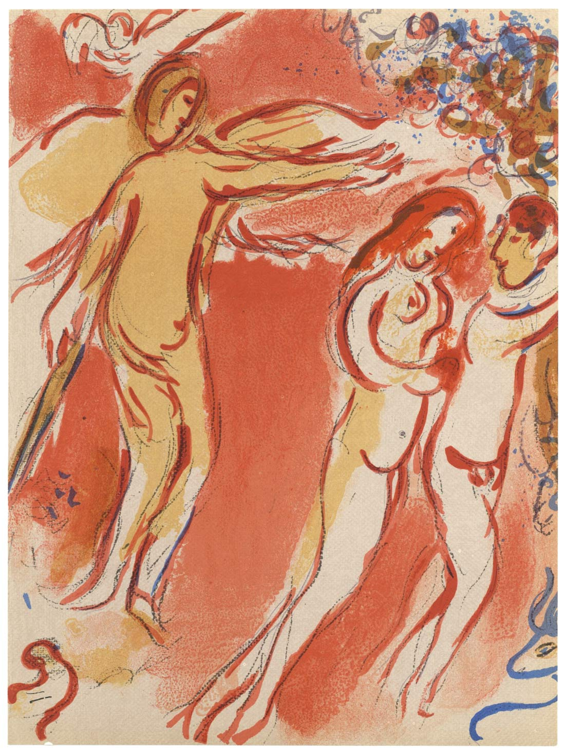 Adam And Eve Expelled From Paradise Marc Chagall