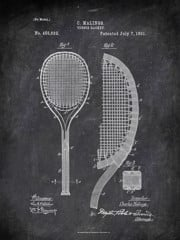 Tennisacket C Malings 1891 Activities by Patent