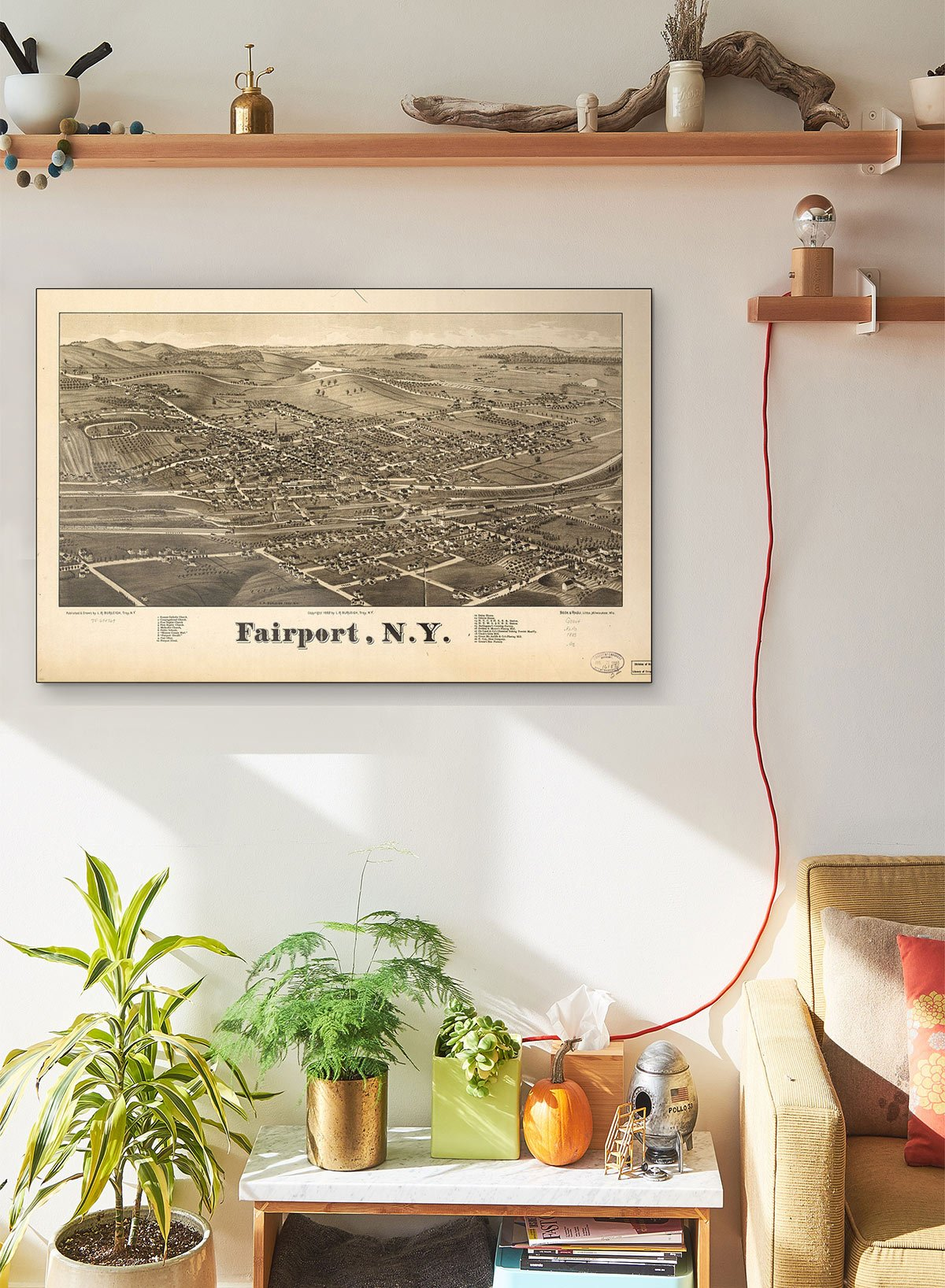 Fairport N.y LARGE Vintage Map