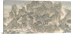 The Kangxi Emperor's Southern Inspection Tour, Scroll Three Ji'nan To Mount Tai - Vintage Asia Maps
