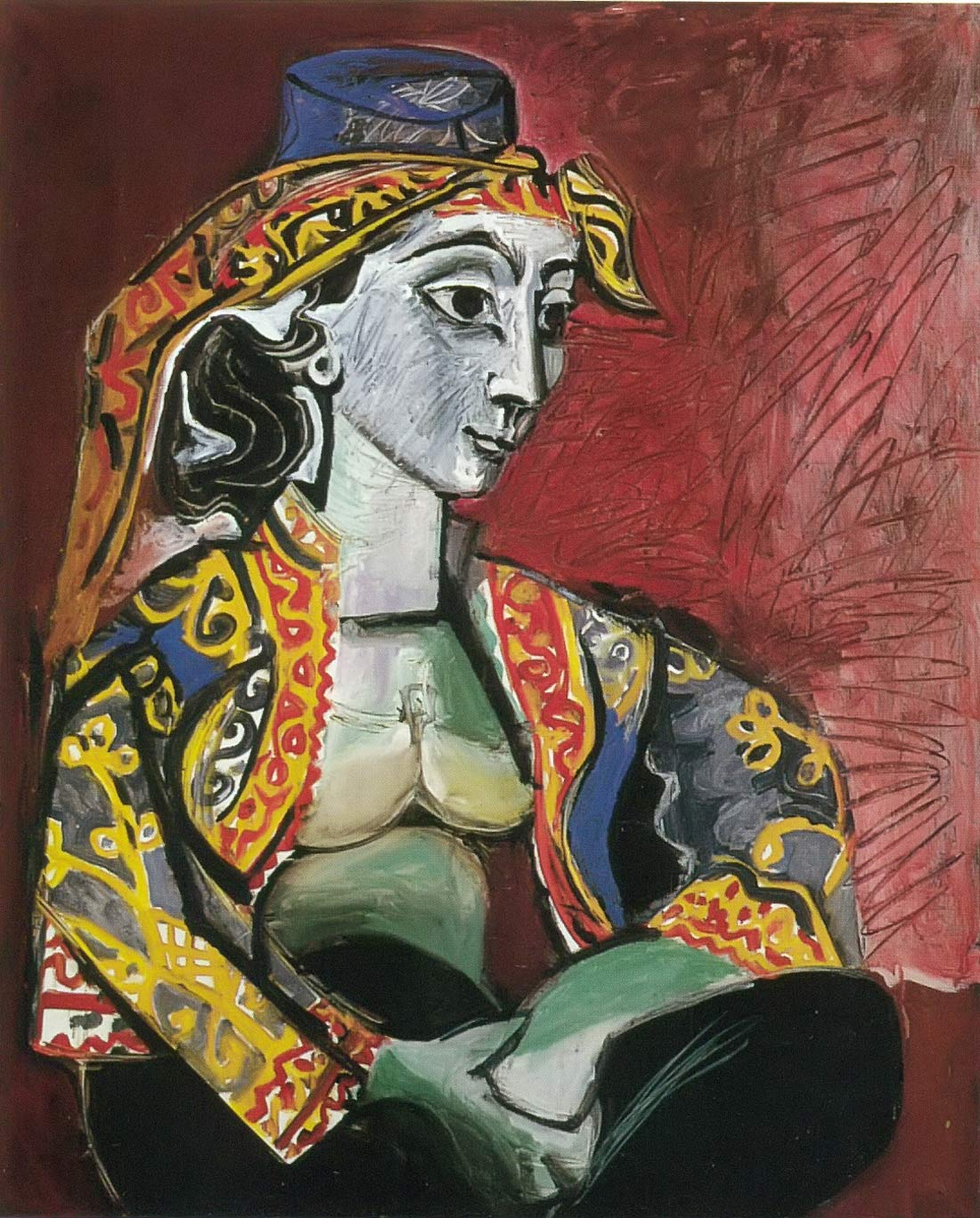 Jacqueline Seated In A Turkish Costume Pablo Picasso