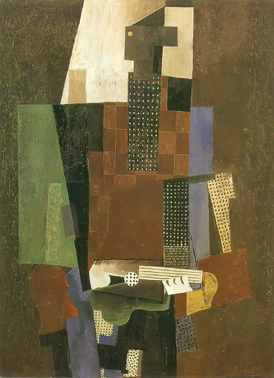 Guitar Player 1916 Pablo Picasso