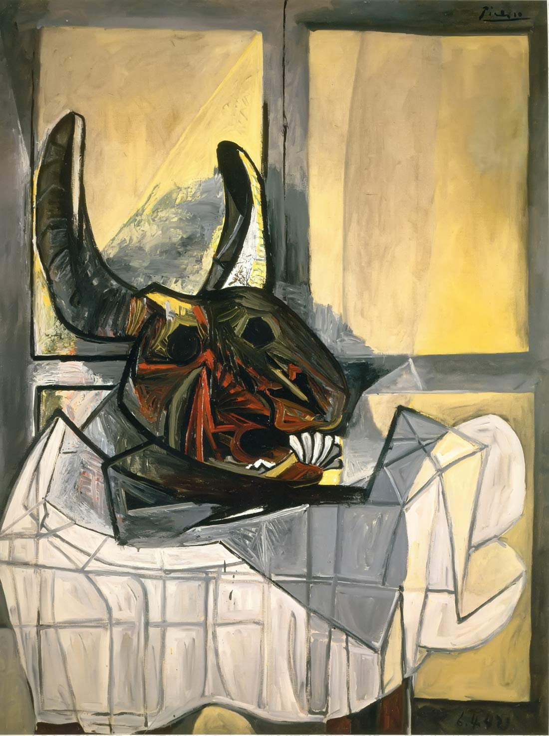 Still Life With Skull Of A Steer 1942 Pablo Picasso