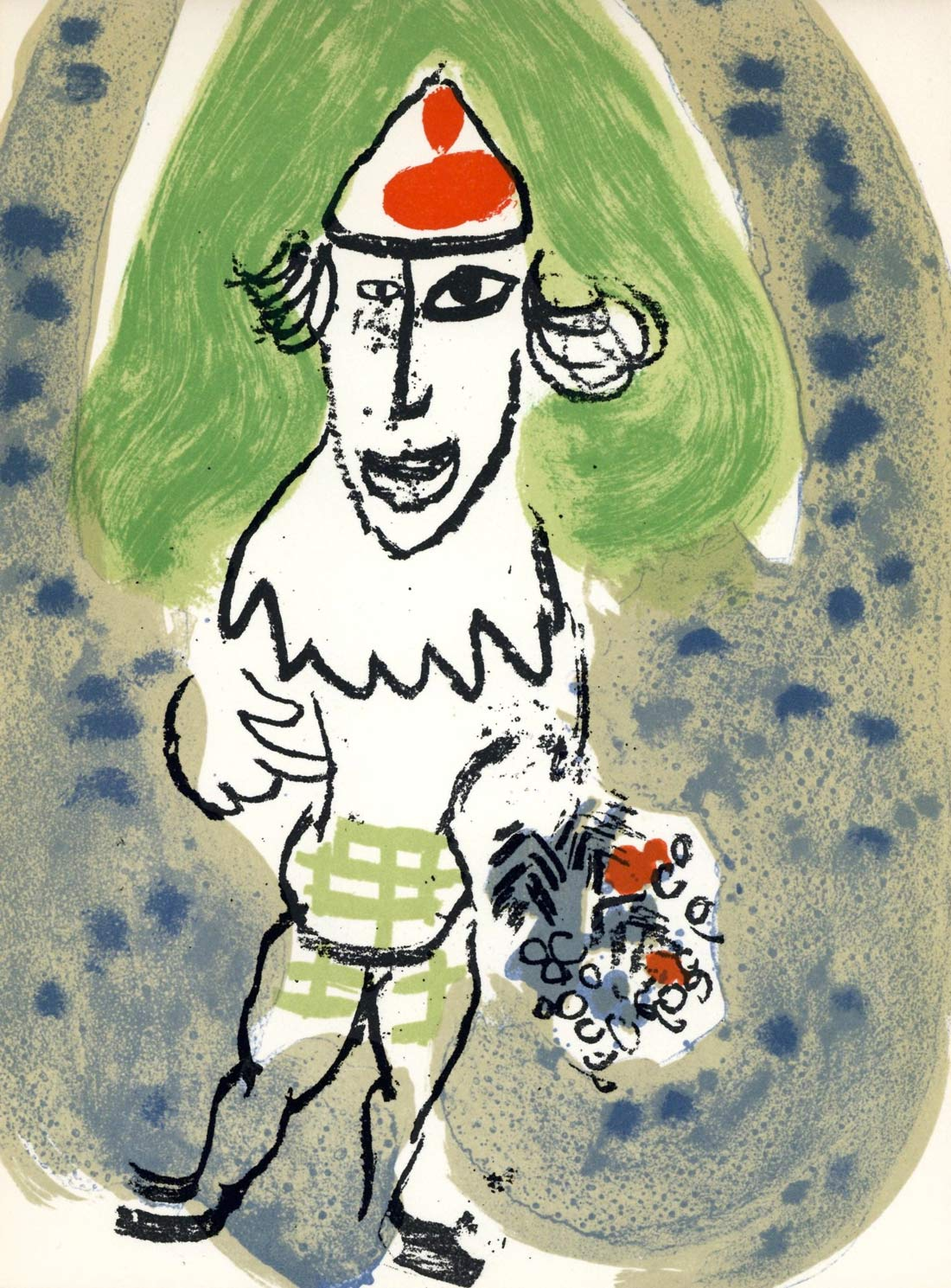 The Green Clown Marc Chagall