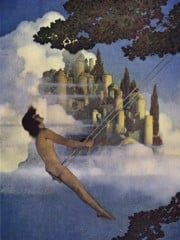 The Dinky Bird by Maxfield Parrish