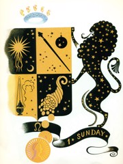 The Zodiac Leo by Erte