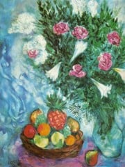 Fruit And Flowers by Marc Chagall