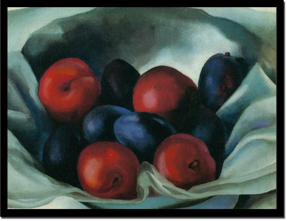 Red And Blue Plums by Georgia O Keeffe