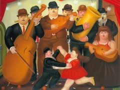 Ball In Columbia by Botero