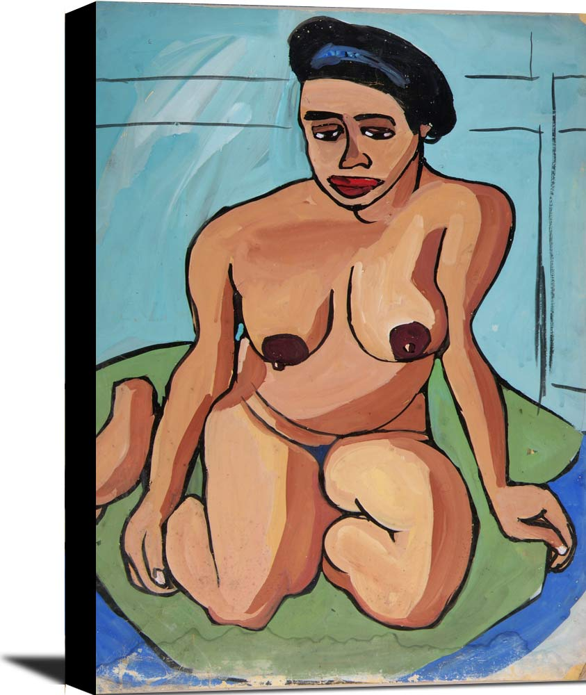 Seated Female Nude 2 William H Johnson