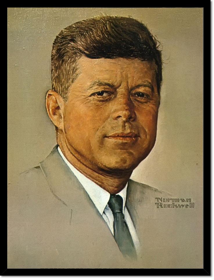Portrait Of Kennedy by Norman Rockwell