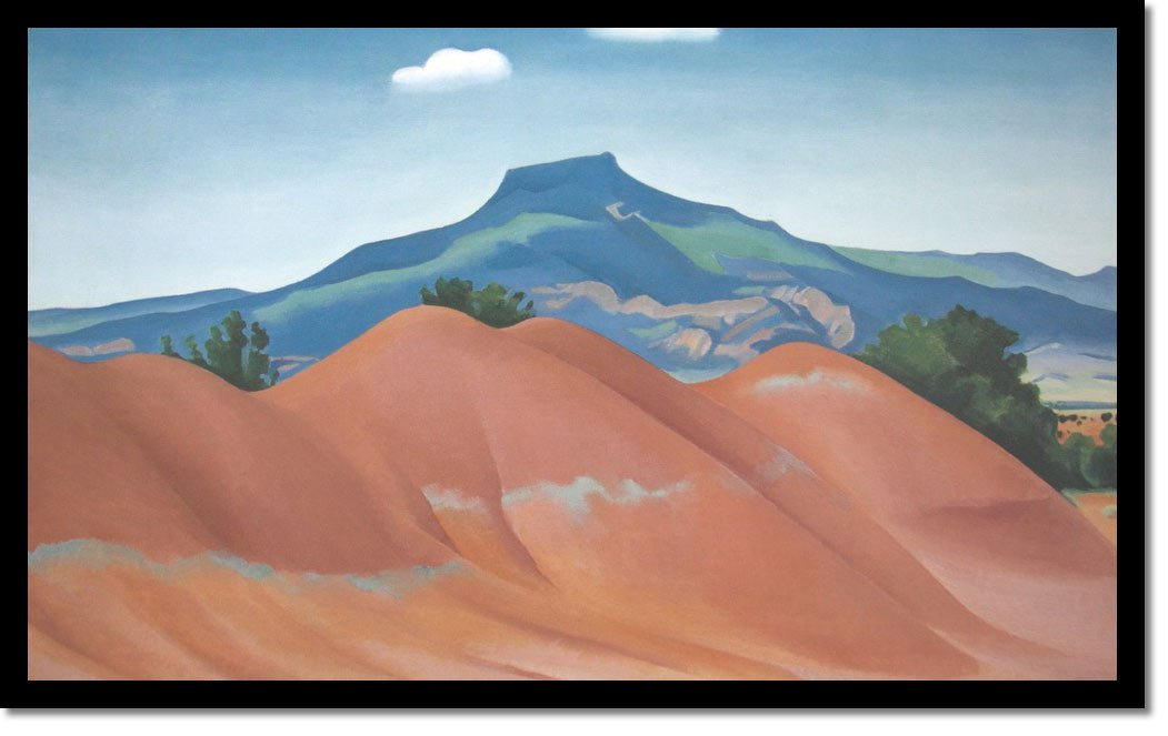 Red Hills With Pedernal White Clouds by Georgia O Keeffe