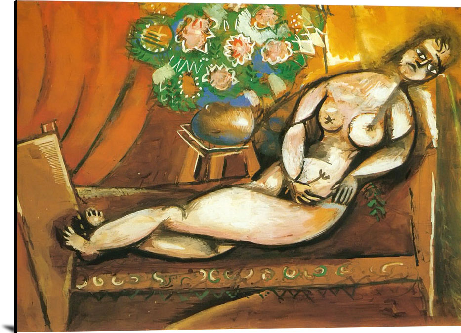 Reclining Nude by Marc Chagall