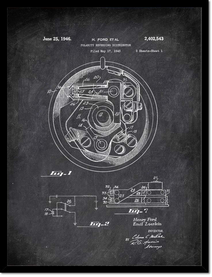 Polarityeversing Distributor H Ford Et Al 1946 2 Transportation by Patent