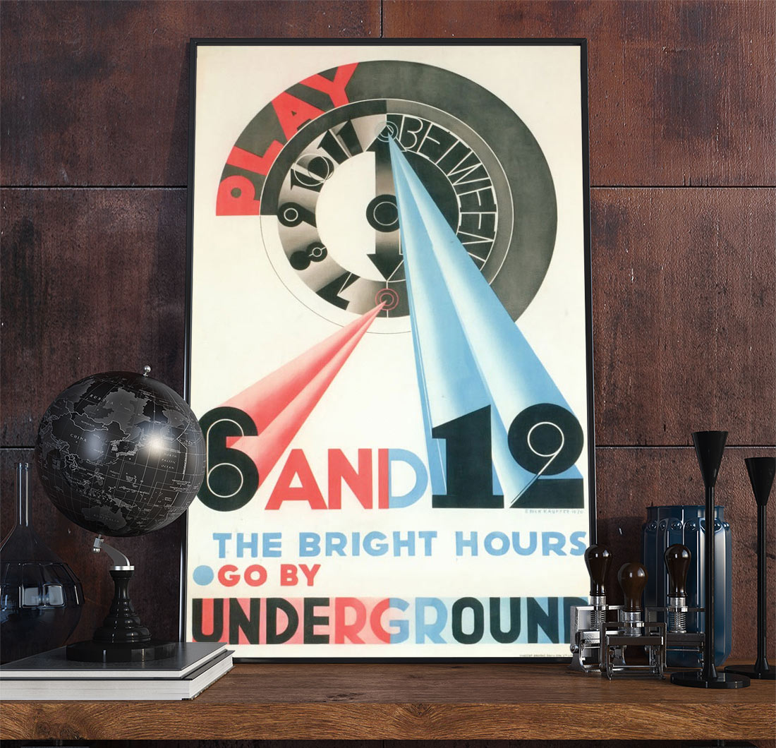 22railway Art Deco Poster