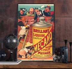 22wpafrench Vintage Advertisement Poster