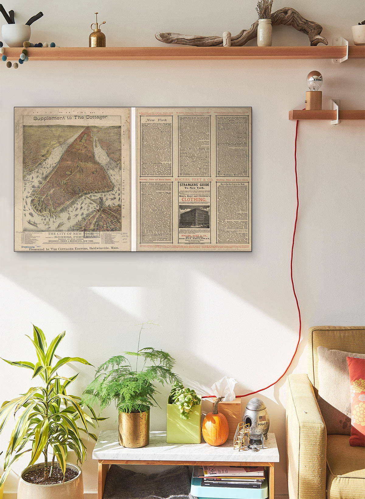 The City Of New York... LARGE Vintage Map