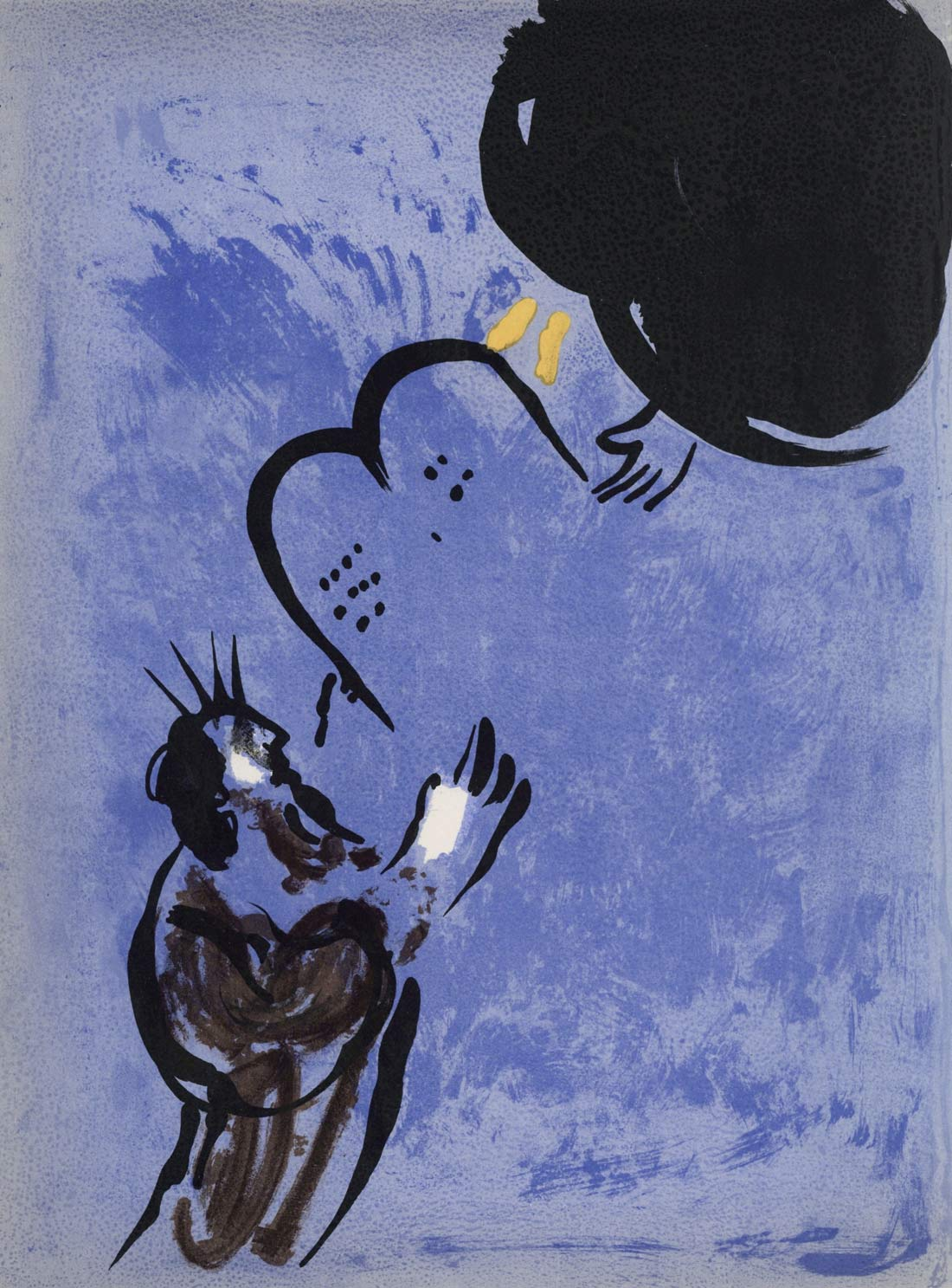Moses Recieving The Tablets Of The Law Marc Chagall
