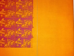 Orange Car Crash 10 Times 1963 by Andy Warhol