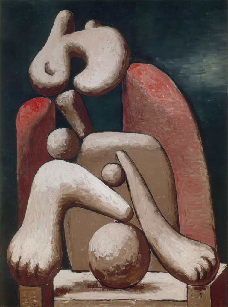 Woman In A Red Armchair 1932 Pablo Picasso