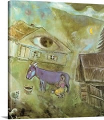 The House With The Green Eye by Marc Chagall