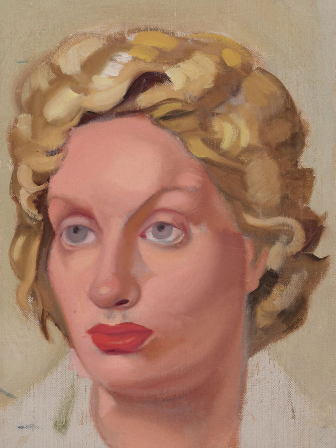 Portrait Of Kizette 1 1954 by Tamara Lempicka