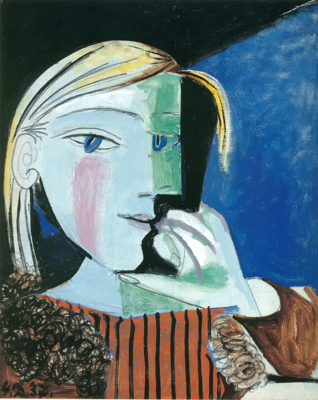 Portrait Of Marie Therese 1937 2 Pablo Picasso