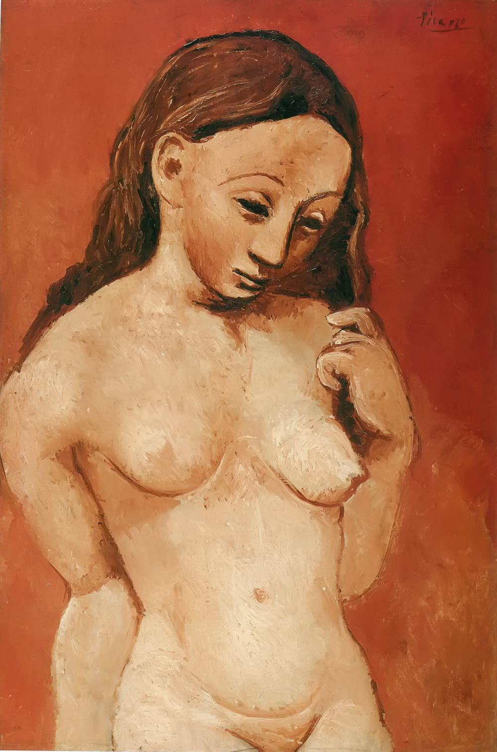 Nude On A Red Background Pablo Picasso