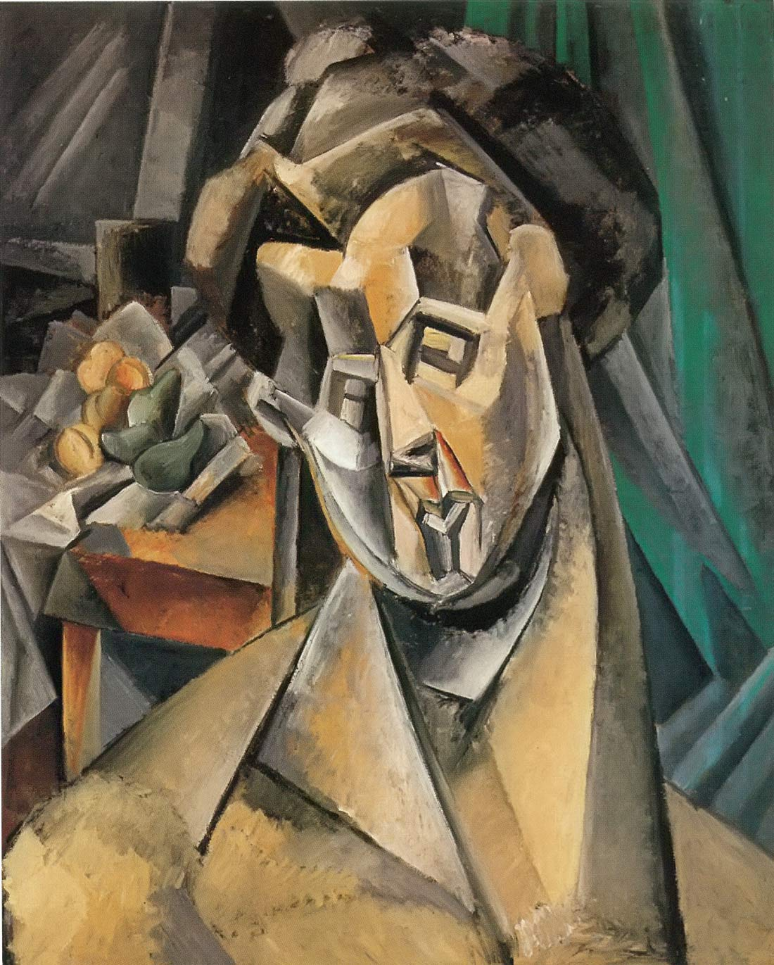 Bust Of A Woman In Front Of A Still Life Pablo Picasso