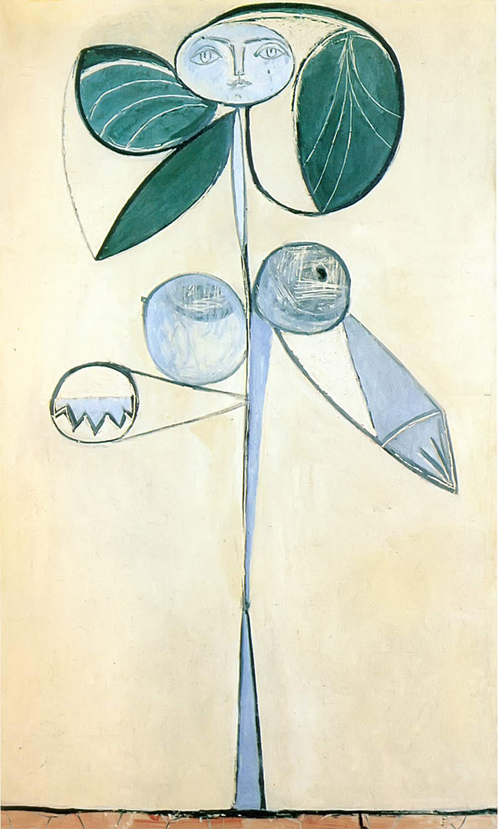 Woman Flower 1946 Pablo Picasso