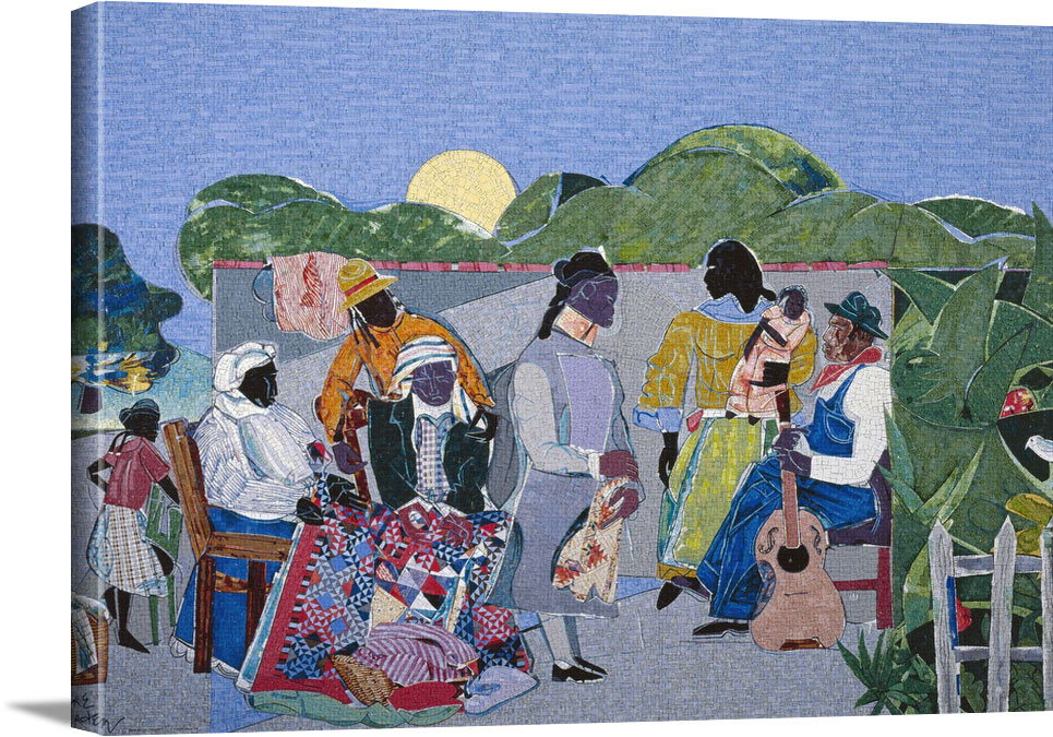 Quilting Time by Romare Howard Bearden