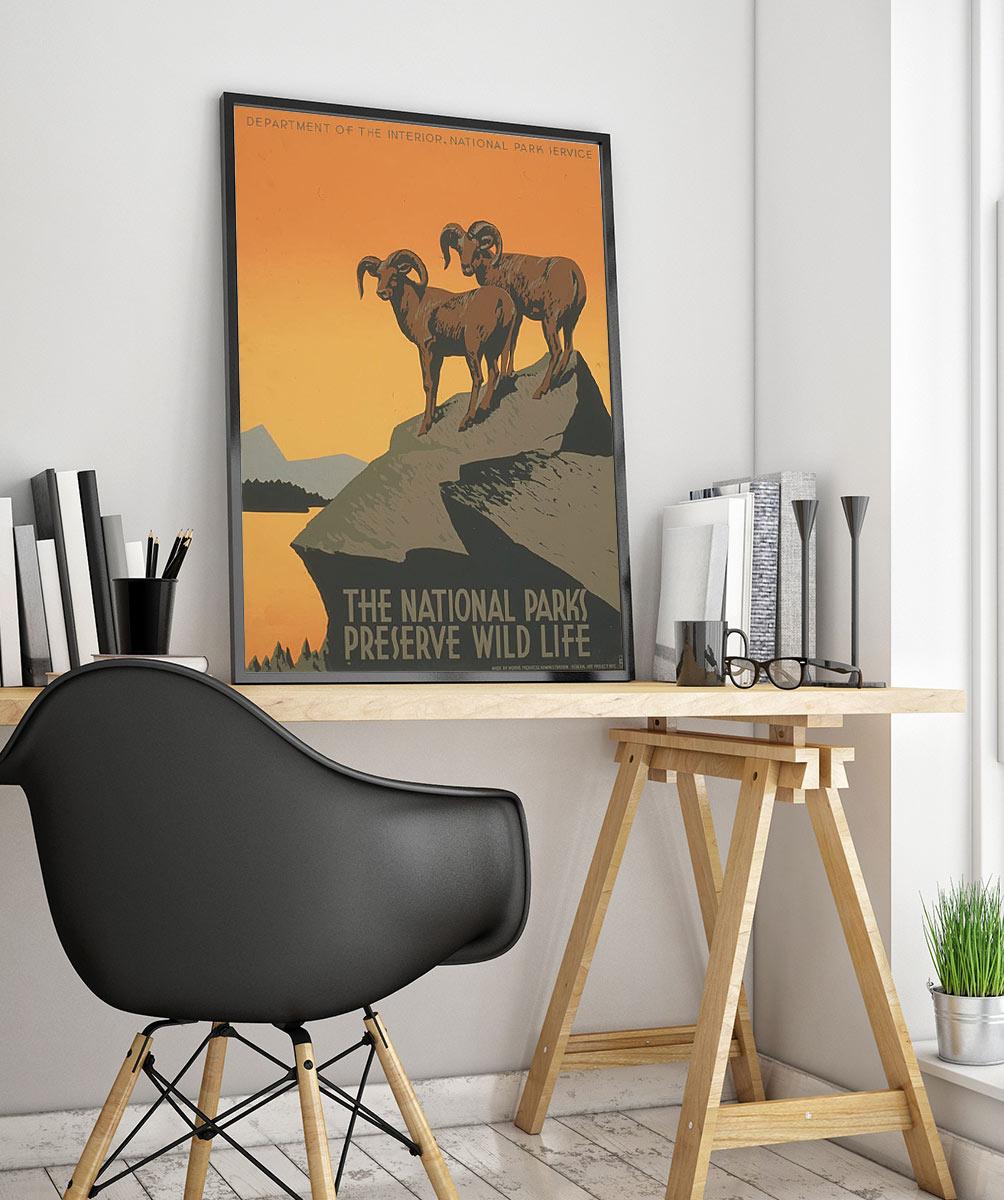 26wpa Cuộc Sống Hoang Dã Vintage Advertisement Poster
