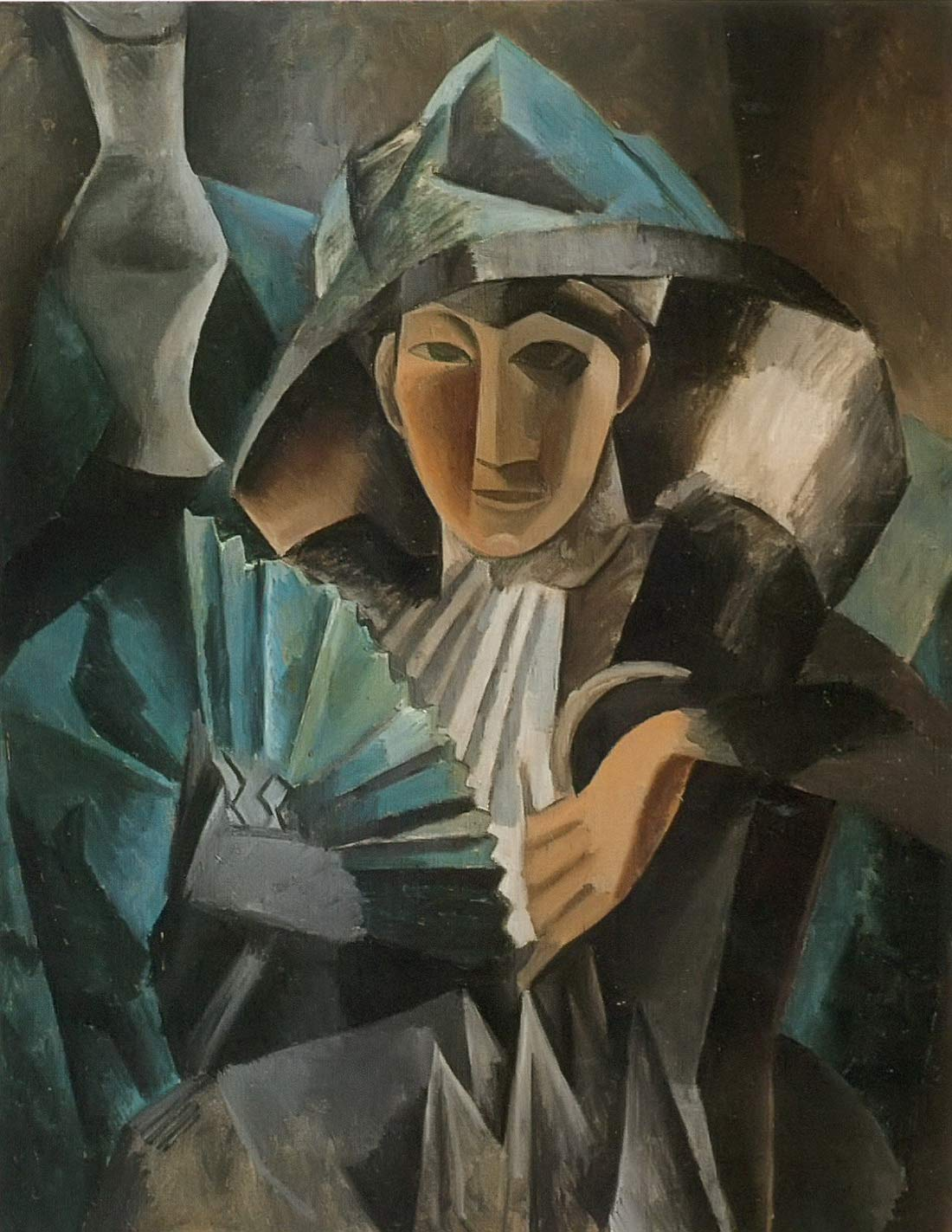 Woman With A Fan 1909 Pablo Picasso