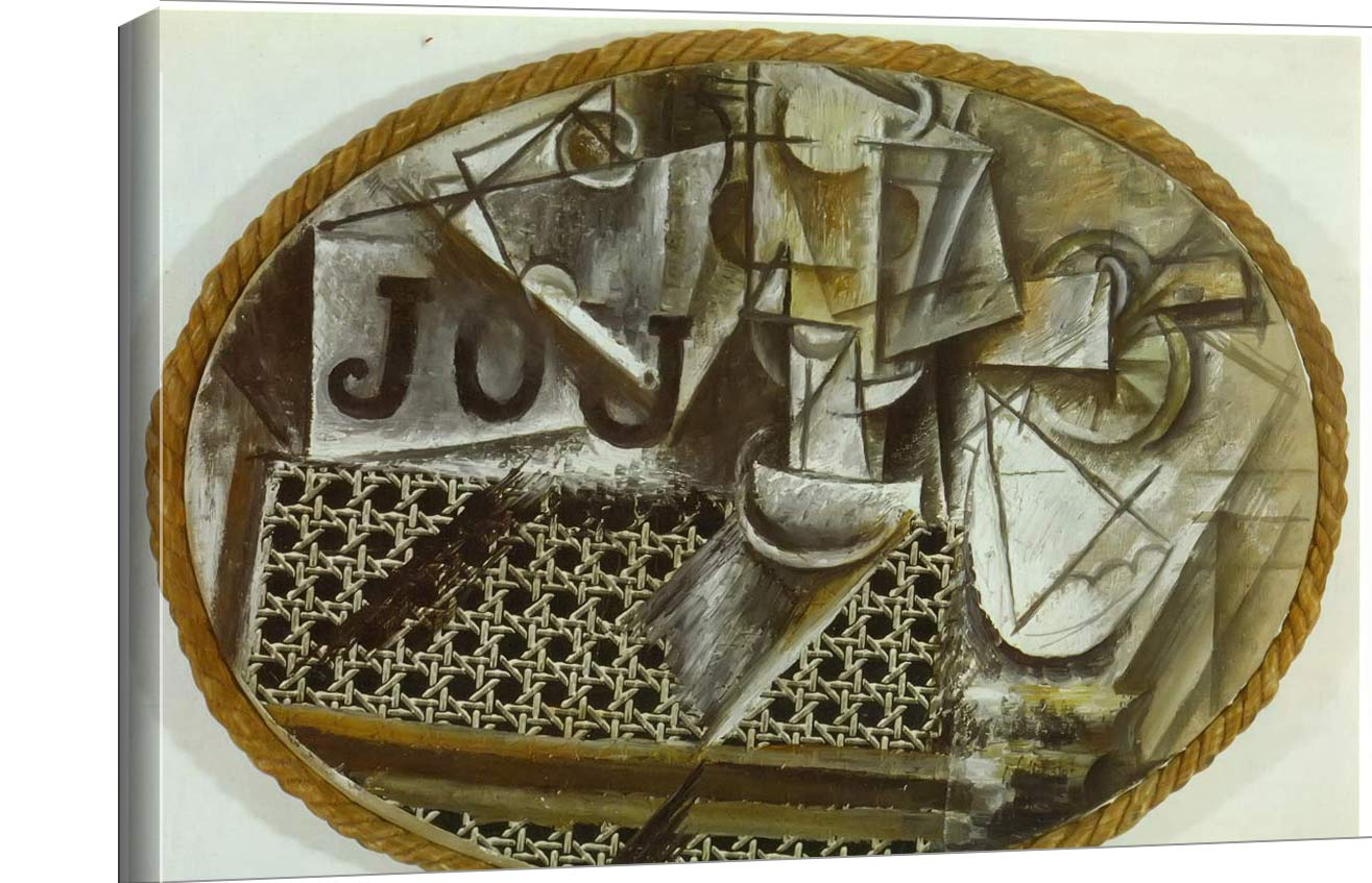 Still Life With Chair Caning Pablo Picasso