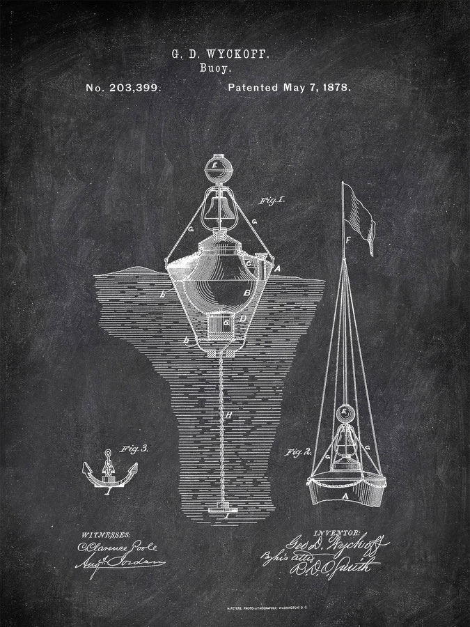 Buoy G D Wyckoff 1878 Tools by Patent