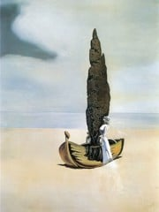 Apparition Of My Cousin Carolineta On The Beach At Roses by Dali