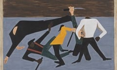 Migration Panel 52 One Of The Largest Race Riots Occurred In East St Louis by Jacob Lawrence